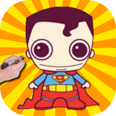How to Draw Cute Baby Superman from Superheroes icon