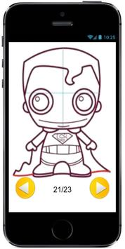How to Draw Cute Baby Superman from Superheroes apk screenshot