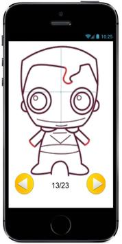 How to Draw Cute Baby Superman from Superheroes screenshot 3