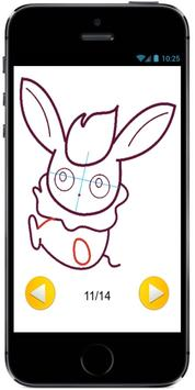 How to Draw Cute Flareon Baby Style from Pokemon apk screenshot