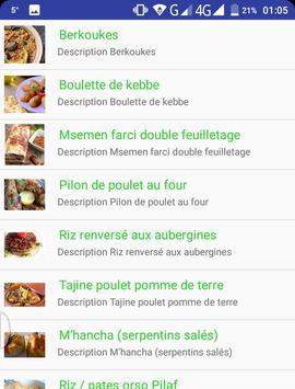 Plats Cuisine Orientale apk screenshot