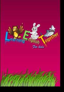 Learning English together for kids poster