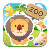 Colors cute zoo animals 4 kids icon