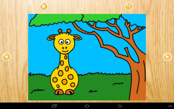 Colors cute zoo animals 4 kids apk screenshot
