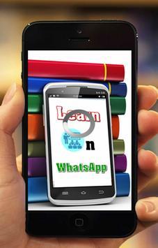 Learn On WhatsApp poster
