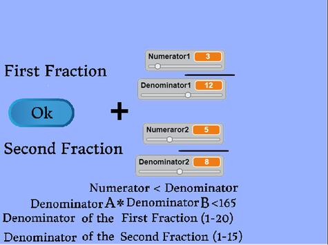 Addition and Subtraction of Fractions screenshot 1