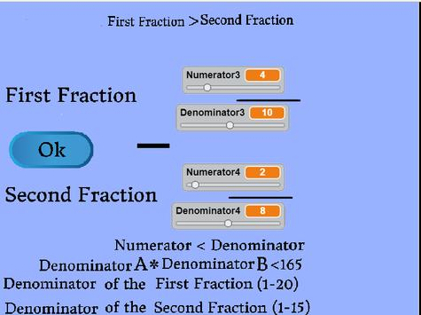 Addition and Subtraction of Fractions screenshot 2