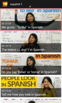تعلم اللغة الاسبانية بلس screenshot 7