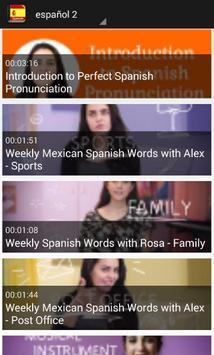 تعلم اللغة الاسبانية بلس screenshot 1