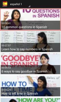 تعلم اللغة الاسبانية بلس screenshot 2