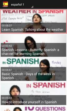 تعلم اللغة الاسبانية بلس screenshot 3