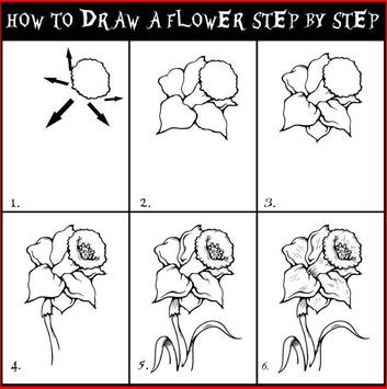 Learn to draw a flower apk screenshot