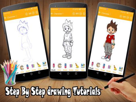 How To Draw Yo Kai Watch characters screenshot 1
