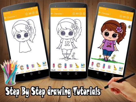 How To Draw Cute Girls EZ poster