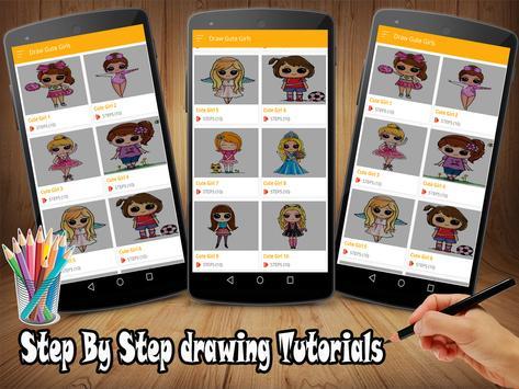 How To Draw Cute Girls EZ screenshot 3