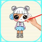 Comment dessiner poupée surprise lol icon