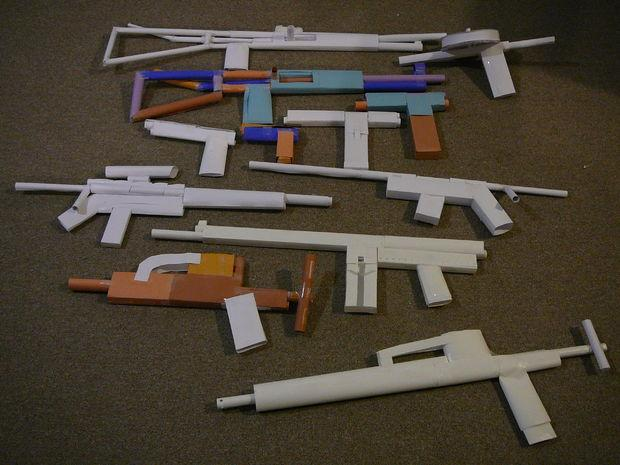 How to make a paper gun | So Easy! | 465x620