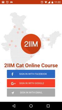CAT Preparation 2IIM poster