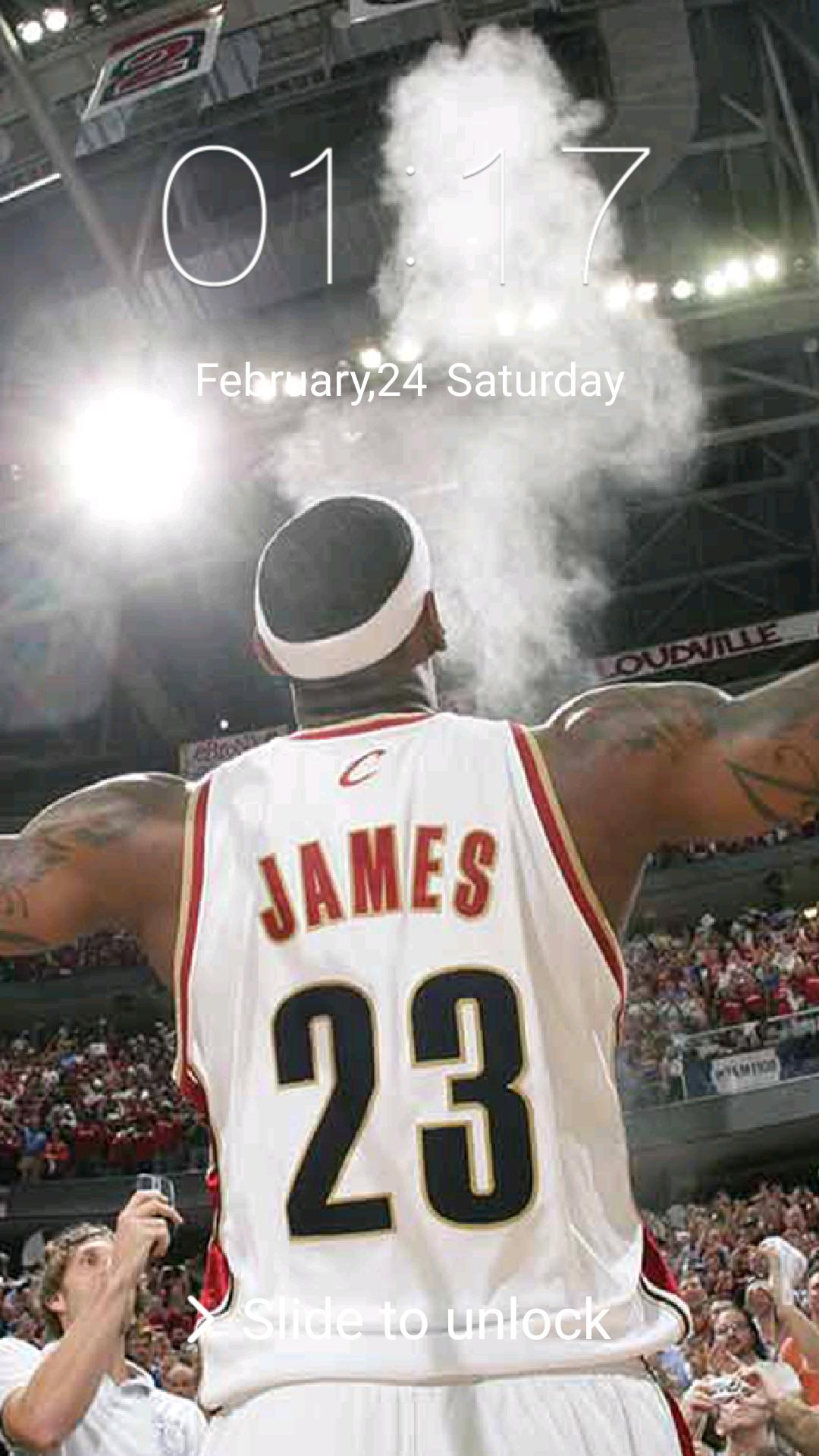 New Lock Screen for LeBron James poster