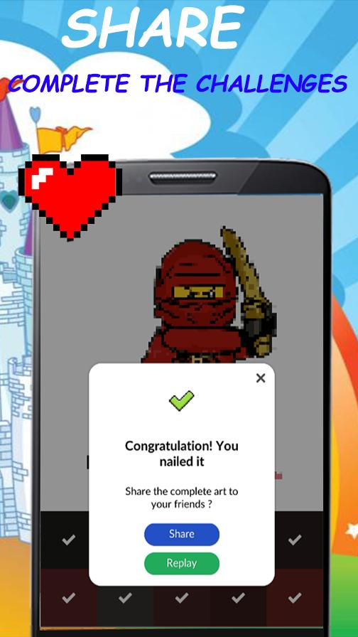 Pixel Art Game Lego Ninjago Color By Number For Android