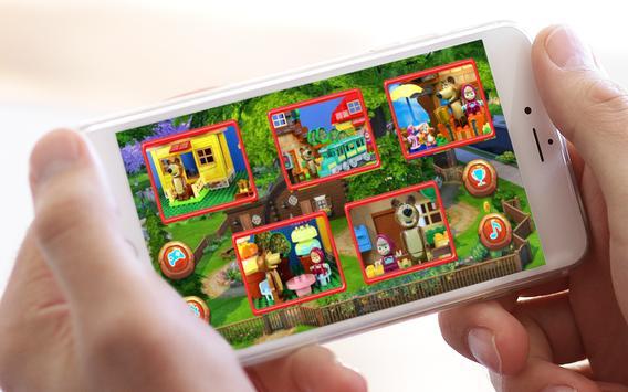 Jigsaw toys Masha Lego apk screenshot