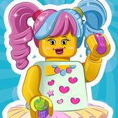 Make lego cupcake icon