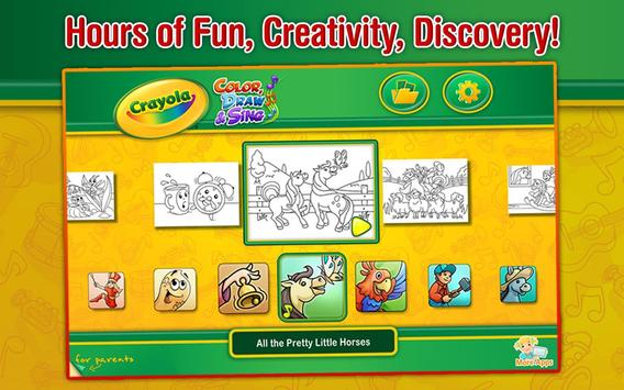Crayola Color, Draw & Sing APK Download - Free Education APP for ...