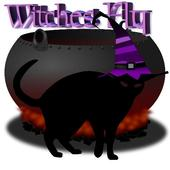 Witches fly icon