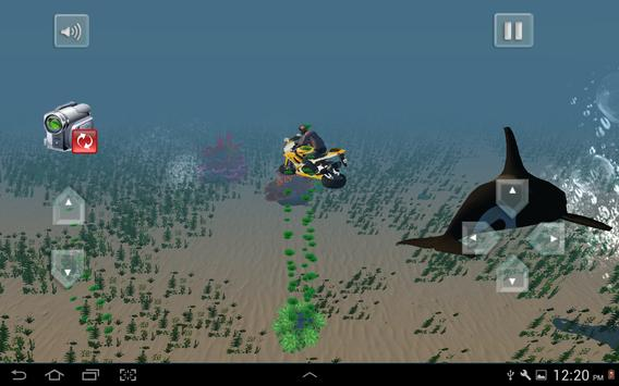 Flying Submarine Bike Racing screenshot 16