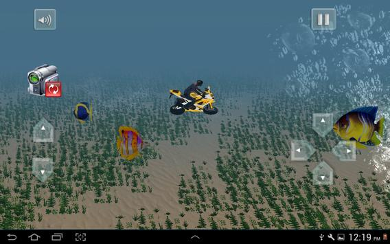 Flying Submarine Bike Racing screenshot 4