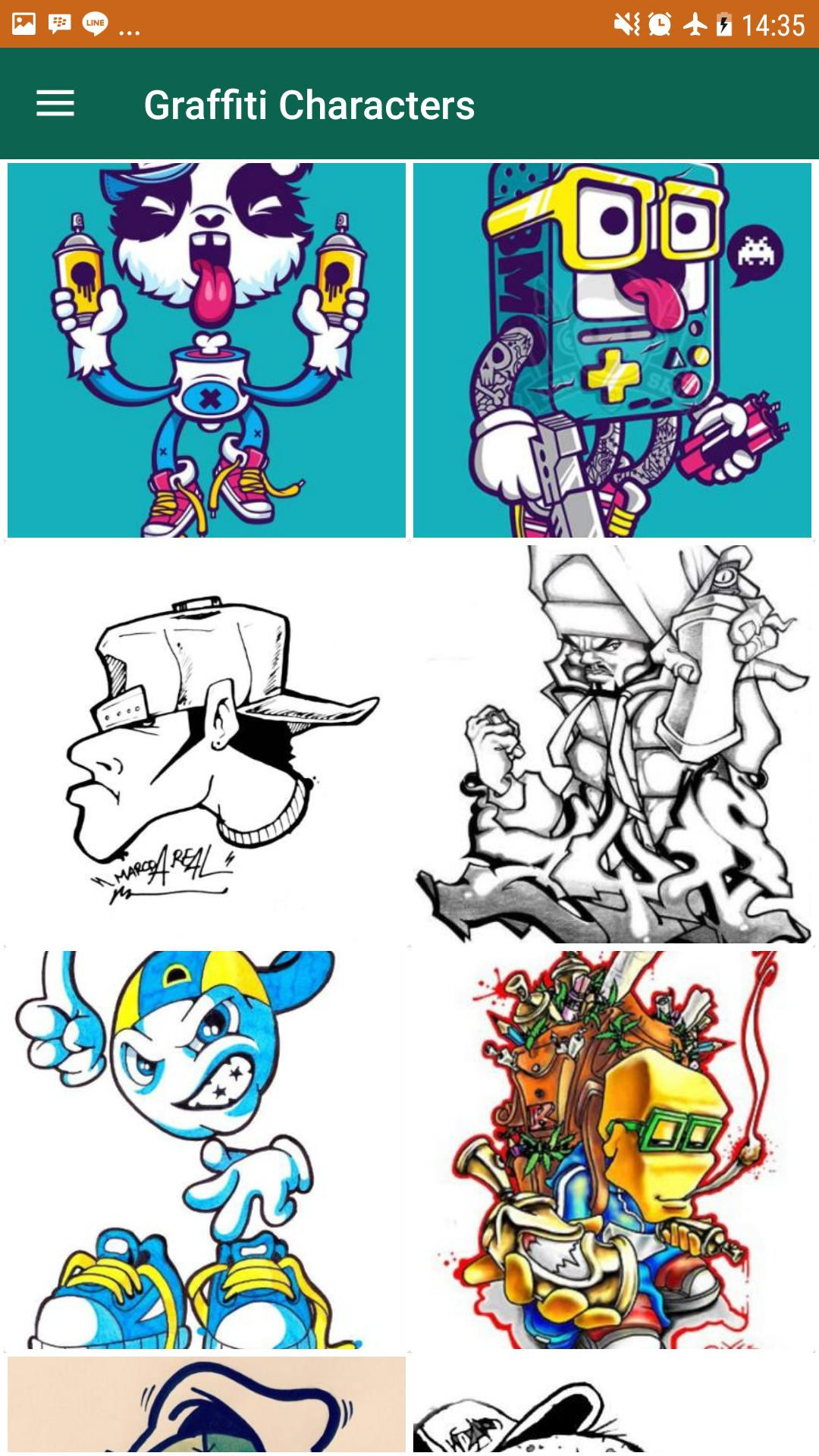 Easy graffiti characters poster easy graffiti characters screenshot 1