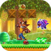 super bandicoot adventure jungle crash icon