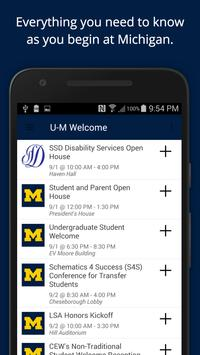 U-M Welcome HoMe! poster