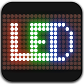LED scrolling display:  LED messages with emojis icon