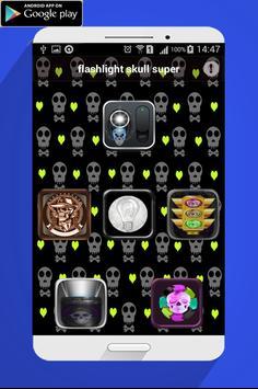 Flashlight skull super poster