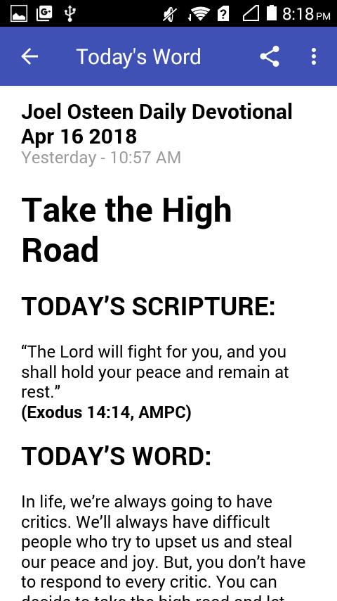 Joel Osteen Daily Devotionals for Android - APK Download