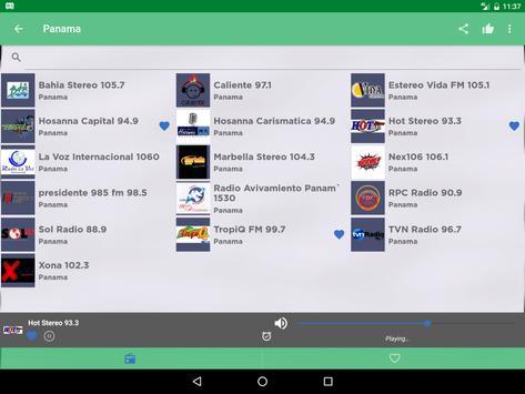 Free Panama Radio AM FM screenshot 6