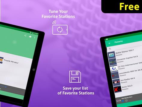 Free Panama Radio AM FM screenshot 11