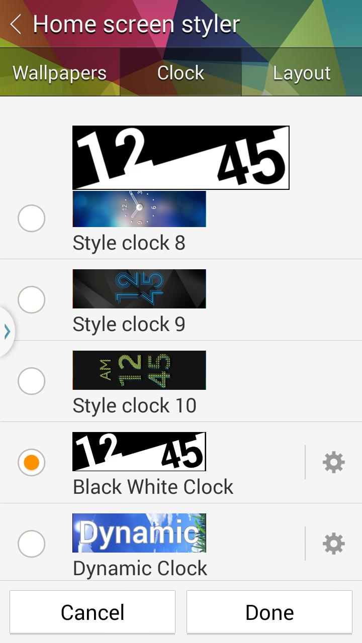 Gear Fit Black White Clock for Android - APK Download