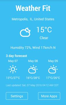Gear Fit Weather Free apk screenshot