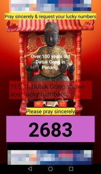 MY Datuk Gong Lucky Numbers screenshot 3
