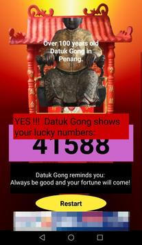 MY Datuk Gong Lucky Numbers screenshot 4