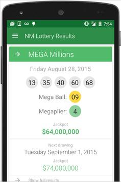 NM Lottery Results screenshot 1