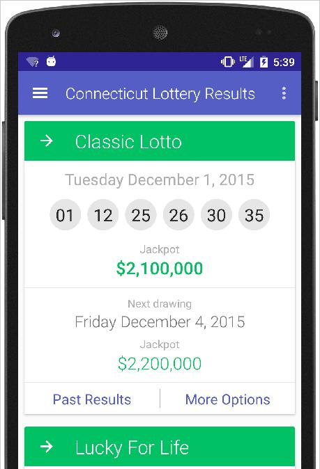 Ct lottery results today