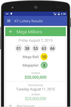 KY Lottery Results poster
