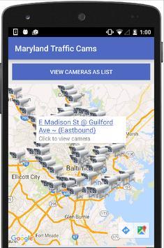 Maryland Traffic Cameras Live apk screenshot