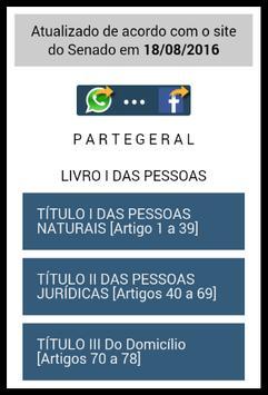 Código Civil Brasileiro screenshot 1