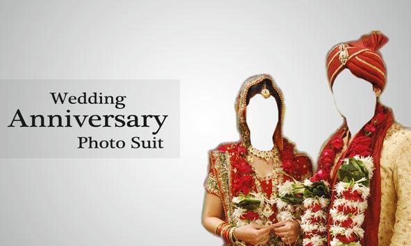 Wedding Anniversary photo Suit poster
