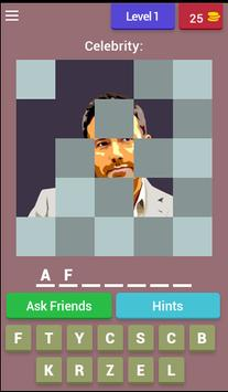 1 picture 1 Celebrity- Guess who I am puzzle poster