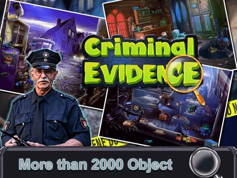 Criminal  Evidence:Hidden Objects Game screenshot 1